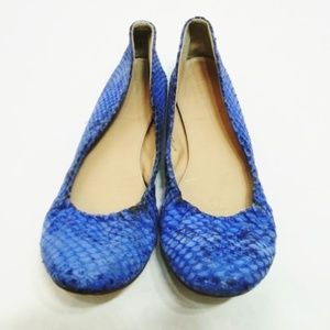 J Crew Collection Cece Snakeskin Ballet Flats 6.5